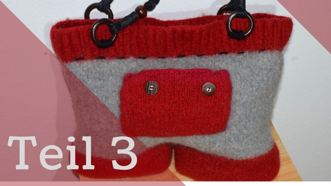Teil 3 Bavariatasche stricken Tasche stricken und filzen   Anleitung