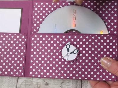 Anleitung für eine CD. DVD Verpackung mit Stampin'Up! Designerpapier