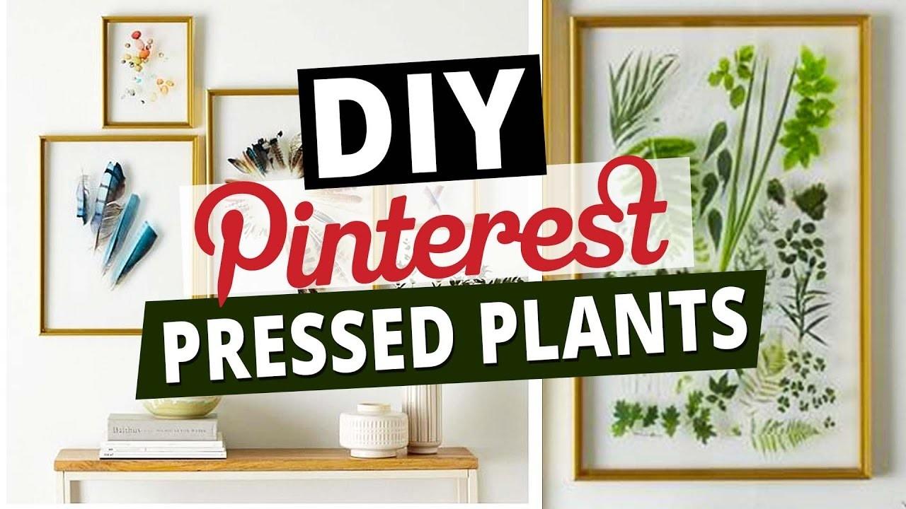 DIY Pinterest Inspired Room Decor l Pressed Plants l Deko Ideen l DIY or DI Don't