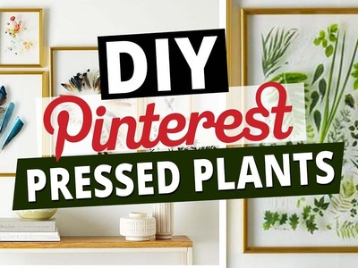 DIY Pinterest Inspired Room Decor l Pressed Plants l Deko Ideen l DIY or DI Don't