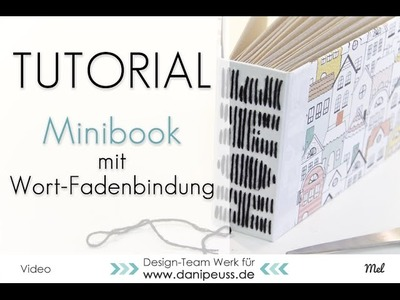 Tutorial: Minibook mit Wort - Fadenbindung