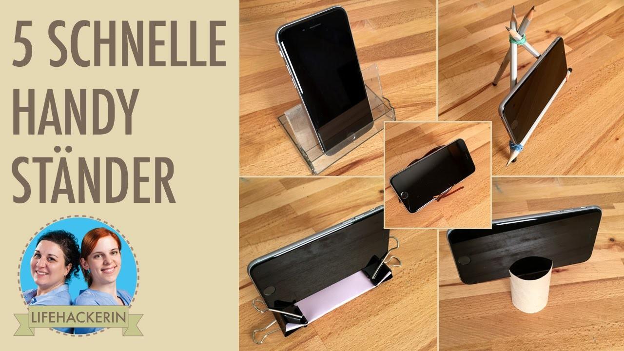 5 schnelle Smartphone Ständer DIY