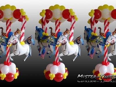 Balloon Carousel, Decoration, Horse, Ballon Karussell, Dekoration, Luftballon, Link O Loon, Pferd