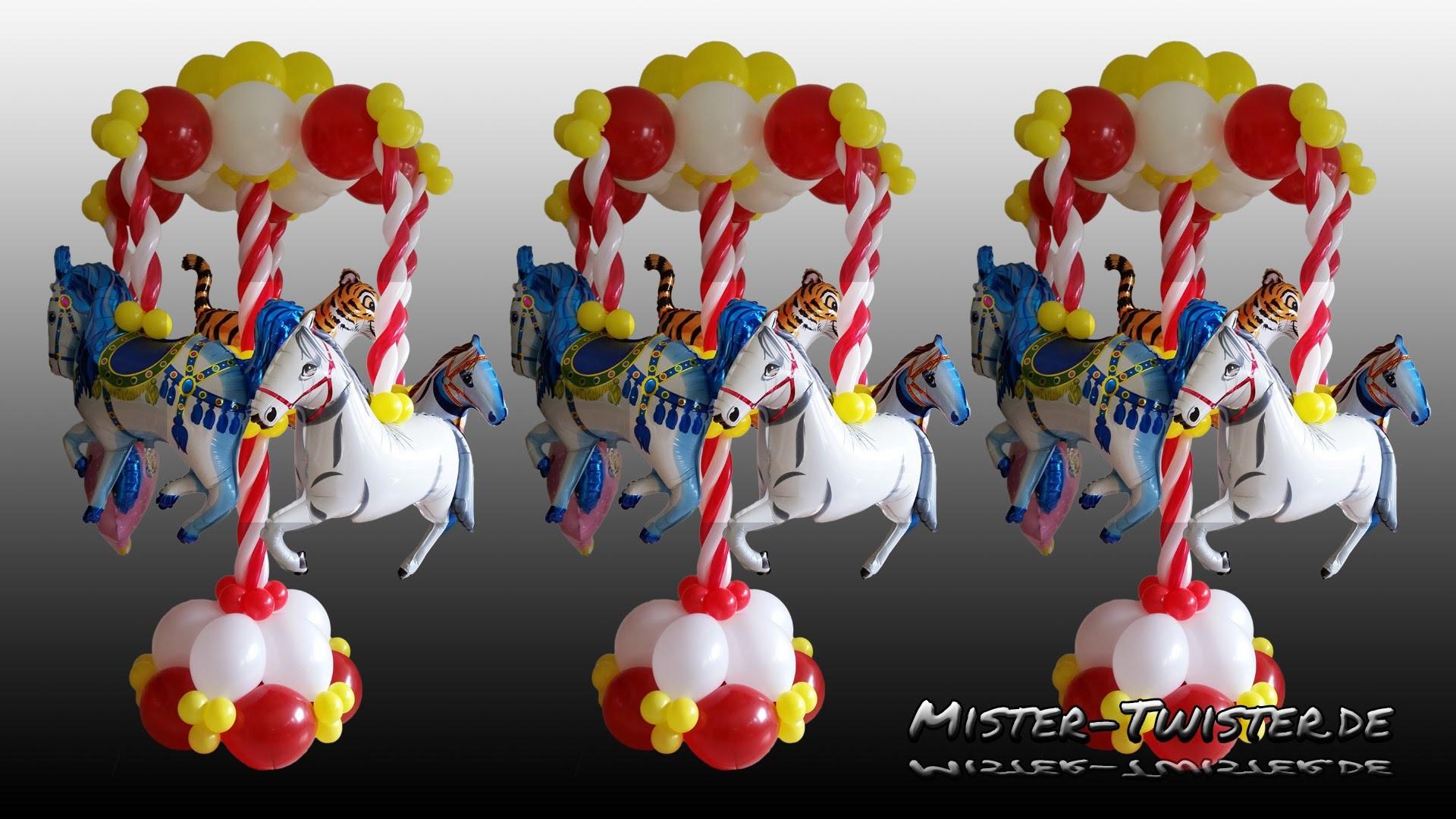 Balloon Carousel Decoration Horse Ballon Karussell Dekoration