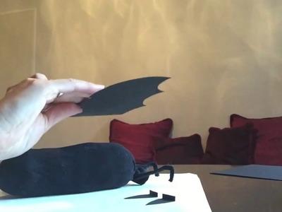 Fledermaus basteln aus einer Socke | Halloween-Bastelideen