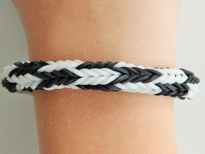 Loom Bands Doppel-X Armband mit Monster Tail