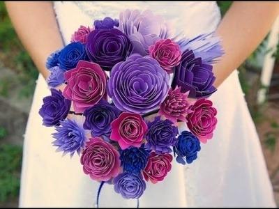 Blumenstrauß selber binden. Blumenstrauß aus papier. Blumenstrauß basteln.