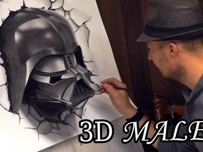 Darth Vader Busts Out in Star Wars 3D Speed Painting