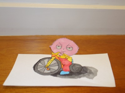 Drawing Stewie Griffin 3D Time Lapse