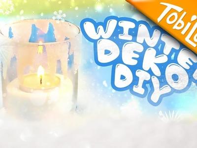Frozen Deko DIY | Kerze im Schnee Last Minute Geschenk DIY | Geschenke DIY - Tobilotta 86