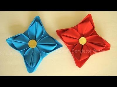Servietten falten für Anfänger: Seerose z.B. Frühling, Hochzeit