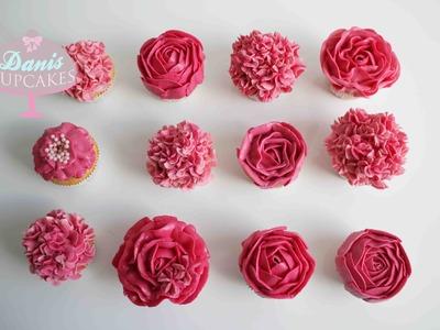 Buttercreme Rosen Hortensien Cupcakes Muttertag Special  Danis Cupcakes