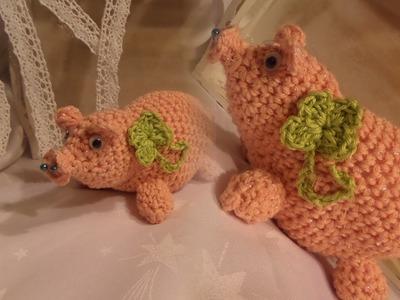 DIY: ein GLÜCKS-Schweinchen ,GLÜCKSBRINGER häkeln , - SELBER MACHEN, mit Tipps+Tricks