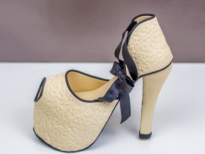 High Heel aus Fondant. Fondant High Heel Tutorial