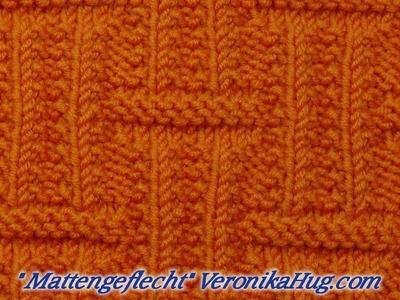 Stricken - Strukturmuster - Mattengeflecht - Veronika Hug