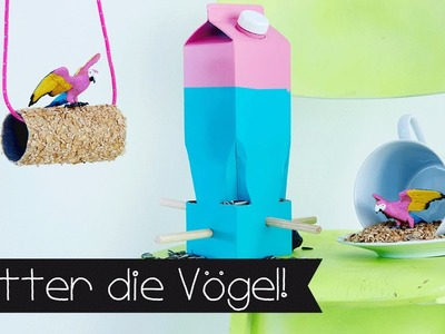 DIY | VOGELHÄUSCHEN | UPCYCLING | Futterkrog für Vögel selber basteln!!! #95
