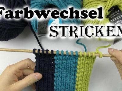 Farbwechsel stricken ✽ Knäuelwechsel ✽ Muster stricken mit Farbwechsel ✽ AnnCooki