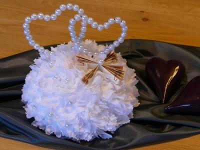 Geldgeschenke(money gifts).Tischdeko zur Hochzeit (wedding)