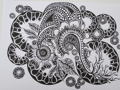 Zentangle Inspired Art #9