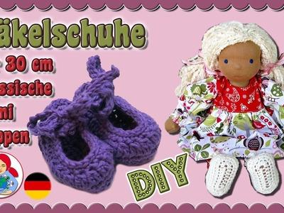 DIY | Häkelschuhe für 30 cm Puppen (Klassischer Sami Schnitt) • Sami Doll Tutorials