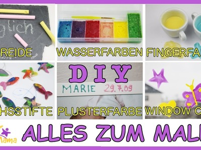 DIY KREIDE, WASSERFARBEN, FINGERFARBEN, WACHSSTIFTE, PLUSTERFARBE, WINDOW-COLOR - Alles zum Malen