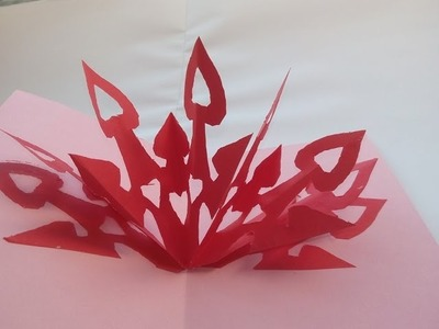 DIY Tutorial: 3D Valentinskarte selber machen.    Making Valentine's Day Cards