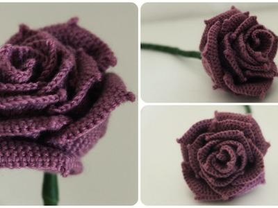 Häkelrose * DIY * Crochet Rose [eng sub]