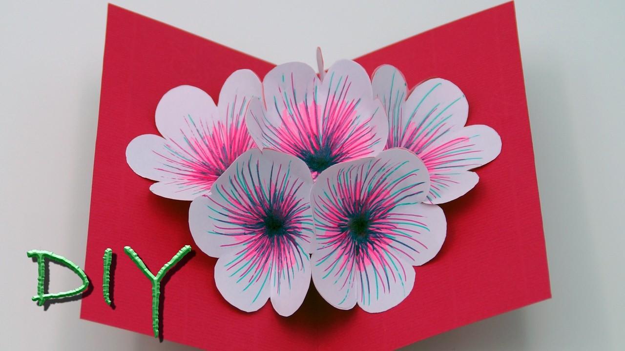basteln mit papier pop up karten selber basteln diy. Black Bedroom Furniture Sets. Home Design Ideas