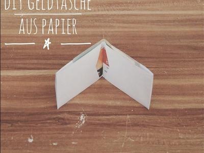 DIY Idee: Papier Geldtasche zum Falten - Wallet inkl. Vorlage