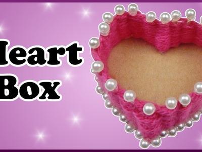 DIY | Valentinstag Herz Box aus Wolle basteln | Valentines Day wool heart box