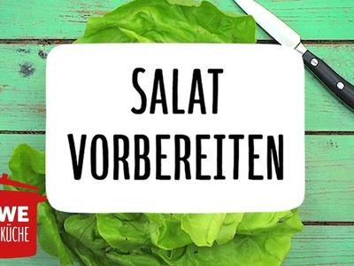 Salat putzen & vorbereiten #DIY