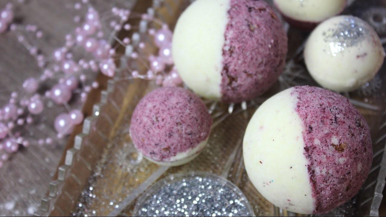 Badebomben.Badekugeln wie von Lush   Vanille-Rosen Badebobme selbstgemacht   Geschenke aus der Küche