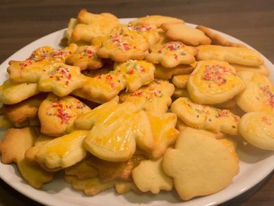 Butterplätzchen selbst gemacht - einfach, schnell und lecker - Rezept. recipe Weihnachtsplätzchen