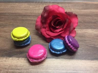 DIY Miniatur Macarons herstellen, basteln mit und für Kinder mit Dingen die man zuhause hat