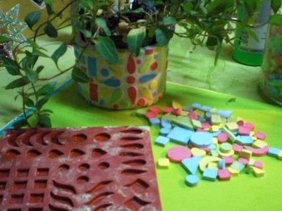 DIY - Mosaike selber machen - Variante 2 - aus Keramik giessen