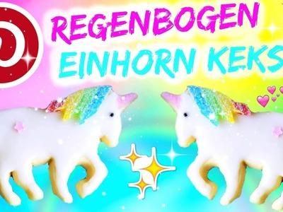DIY PINTEREST REGENBOGEN EINHORN KEKSE IM TEST ♡