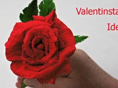 Diy Valentinstag Geschenk ❁ Rose aus Krepppapier basteln ❁ Deko Ideen mit Flora-Shop