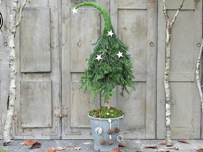 DIY - Winterdeko selber machen - Tannenbaum mit Zipfelmütze aus Naturmaterial I HowTo.Tutorial