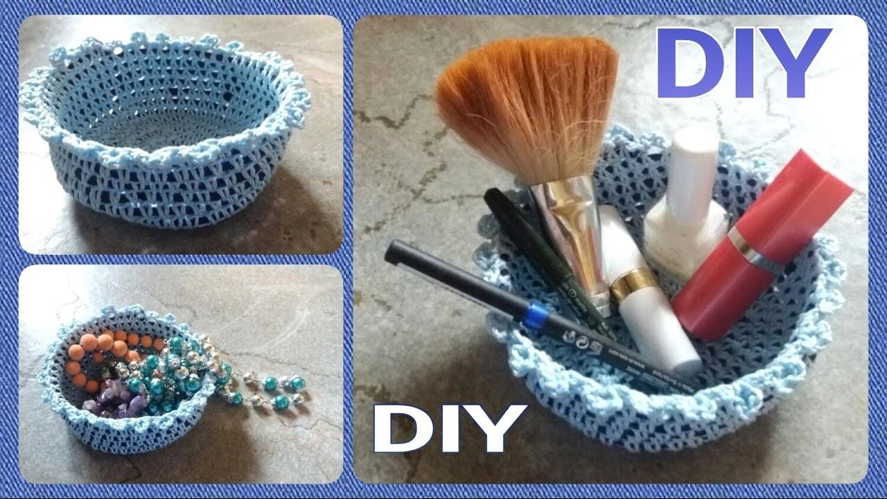 Häkeln : Körbchen.  Schale für Utensilien • DIY