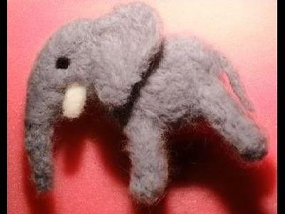 Niedlicher Elefant aus Filz - DIY  Tutorial Trockenfilzen