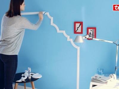 Tesa® DIY-Tipp: Elegante Wandgestaltung im Schlafzimmer