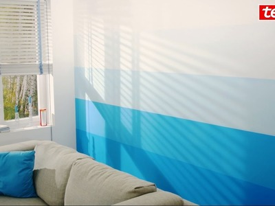 Tesa® DIY-Tipp: Wohnzimmerwand mit Farbverlauf