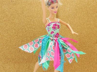 Barbie Ballett Rock selber basteln ohne nähen | DIY Kleidung für Puppen selber machen