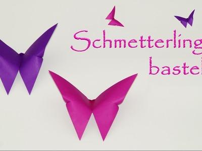 Basteln mit Papier: Schmetterlinge falten, DIY