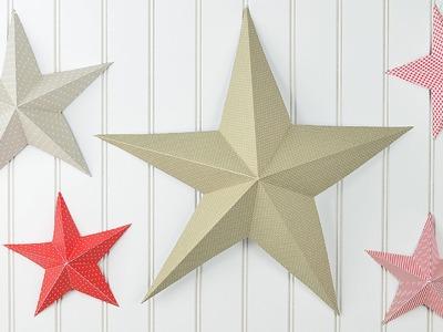 DIY - Sterne basteln I 3D-Weihnachtsstern I aus Tonpapier und Tapeten I Weihnachtsdeko I How to
