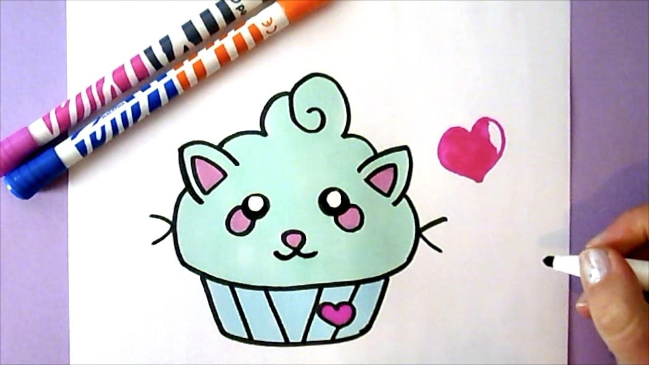 kawaii cupcake zeichnen diy wie zeichnet man einen cupcake. Black Bedroom Furniture Sets. Home Design Ideas