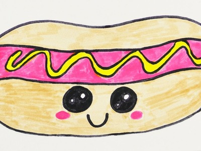 KAWAII DIY HOT DOG selber machen | niedliches Fast Food für Einladungen und Geburtstagskarten