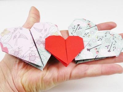Süßes Herz falten | DIY Idee für Kinder | Basteln für die Lieben | Valentinstags Idee