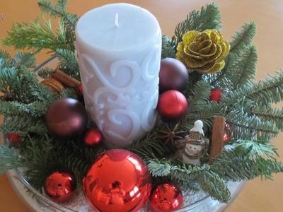 Weihnachtsdeko Ideen . Adventsgesteck (20 Bilder)