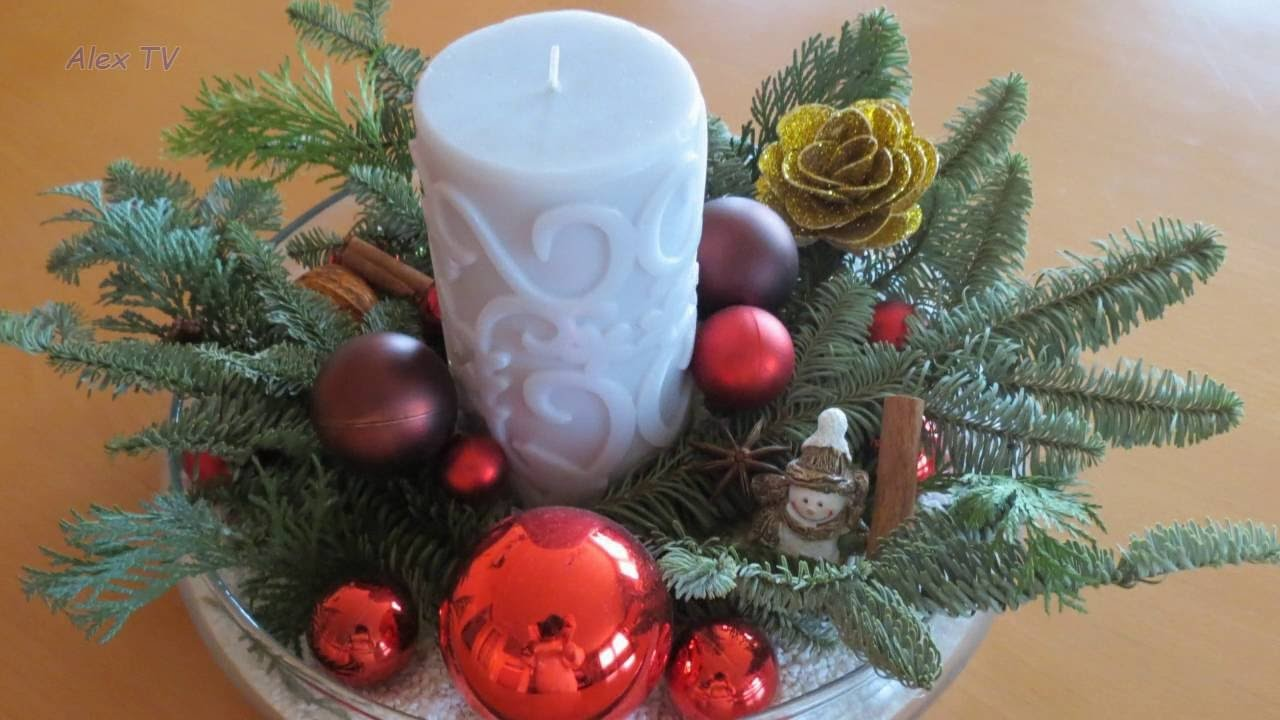 Weihnachtsdeko ideen adventsgesteck 20 bilder for Adventsgestecke bilder